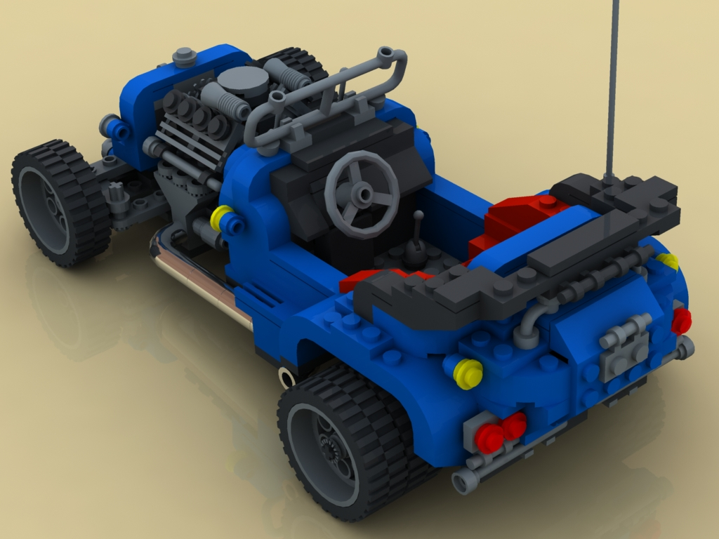 une hot road en lego 1/2